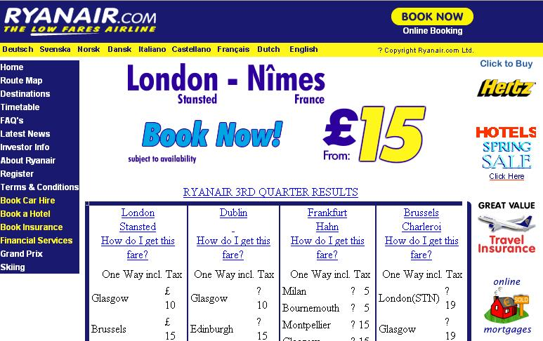 Ryanair Travel Insurance Website